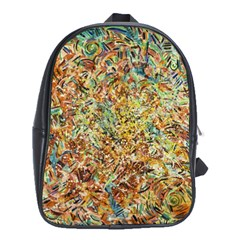 Art Modern Painting Acrylic Canvas School Bags (xl)