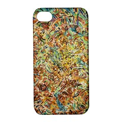 Art Modern Painting Acrylic Canvas Apple Iphone 4/4s Hardshell Case With Stand