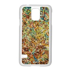 Art Modern Painting Acrylic Canvas Samsung Galaxy S5 Case (white)
