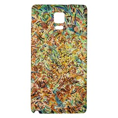Art Modern Painting Acrylic Canvas Galaxy Note 4 Back Case