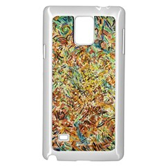 Art Modern Painting Acrylic Canvas Samsung Galaxy Note 4 Case (white)