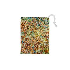 Art Modern Painting Acrylic Canvas Drawstring Pouches (xs)
