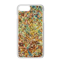 Art Modern Painting Acrylic Canvas Apple Iphone 7 Plus White Seamless Case