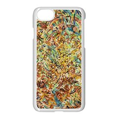 Art Modern Painting Acrylic Canvas Apple Iphone 7 Seamless Case (white)