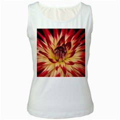 Bloom Blossom Close Up Flora Women s White Tank Top