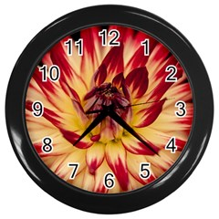 Bloom Blossom Close Up Flora Wall Clocks (black)