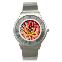 Bloom Blossom Close Up Flora Stainless Steel Watch