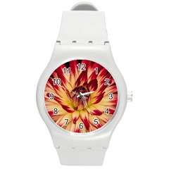 Bloom Blossom Close Up Flora Round Plastic Sport Watch (m)