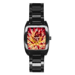Bloom Blossom Close Up Flora Stainless Steel Barrel Watch
