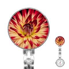 Bloom Blossom Close Up Flora Stainless Steel Nurses Watch