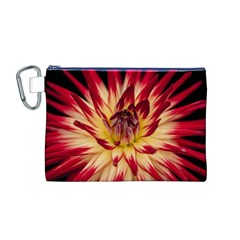 Bloom Blossom Close Up Flora Canvas Cosmetic Bag (m)