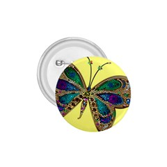 Butterfly Mosaic Yellow Colorful 1 75  Buttons