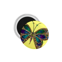 Butterfly Mosaic Yellow Colorful 1 75  Magnets