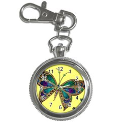 Butterfly Mosaic Yellow Colorful Key Chain Watches