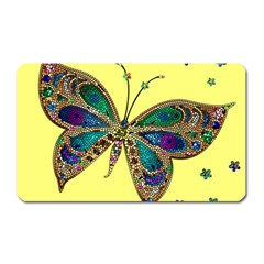 Butterfly Mosaic Yellow Colorful Magnet (rectangular)