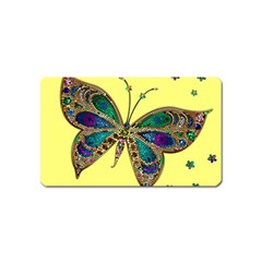 Butterfly Mosaic Yellow Colorful Magnet (name Card)