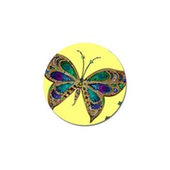 Butterfly Mosaic Yellow Colorful Golf Ball Marker