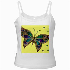 Butterfly Mosaic Yellow Colorful Ladies Camisoles