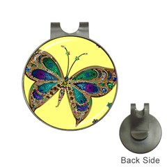 Butterfly Mosaic Yellow Colorful Hat Clips With Golf Markers