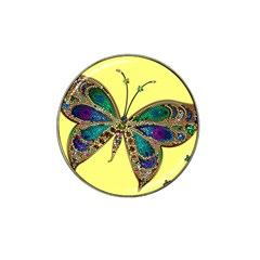Butterfly Mosaic Yellow Colorful Hat Clip Ball Marker (4 Pack)