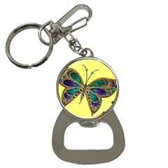 Butterfly Mosaic Yellow Colorful Button Necklaces