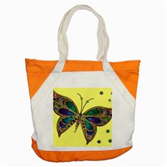 Butterfly Mosaic Yellow Colorful Accent Tote Bag