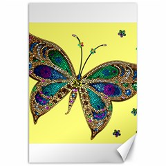 Butterfly Mosaic Yellow Colorful Canvas 20  X 30