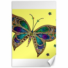 Butterfly Mosaic Yellow Colorful Canvas 24  X 36