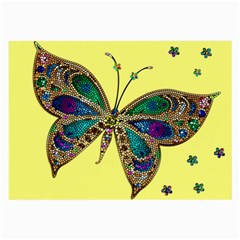 Butterfly Mosaic Yellow Colorful Large Glasses Cloth (2 Side)