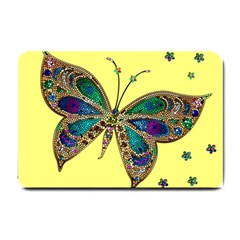 Butterfly Mosaic Yellow Colorful Small Doormat
