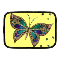 Butterfly Mosaic Yellow Colorful Netbook Case (medium)