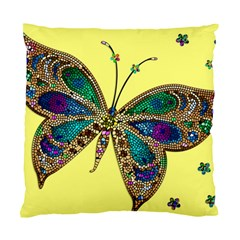 Butterfly Mosaic Yellow Colorful Standard Cushion Case (one Side)