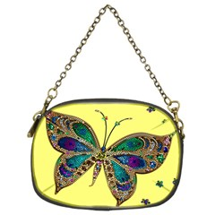 Butterfly Mosaic Yellow Colorful Chain Purses (two Sides)