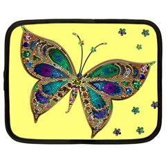 Butterfly Mosaic Yellow Colorful Netbook Case (xxl)