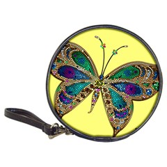 Butterfly Mosaic Yellow Colorful Classic 20-CD Wallets