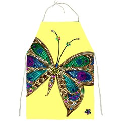 Butterfly Mosaic Yellow Colorful Full Print Aprons