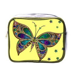 Butterfly Mosaic Yellow Colorful Mini Toiletries Bags
