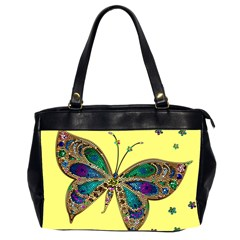 Butterfly Mosaic Yellow Colorful Office Handbags (2 Sides)
