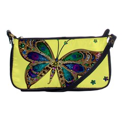 Butterfly Mosaic Yellow Colorful Shoulder Clutch Bags