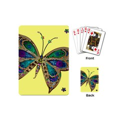 Butterfly Mosaic Yellow Colorful Playing Cards (mini)