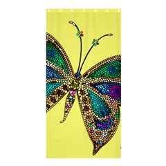 Butterfly Mosaic Yellow Colorful Shower Curtain 36  X 72  (stall)