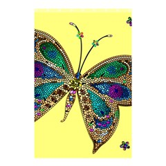 Butterfly Mosaic Yellow Colorful Shower Curtain 48  X 72  (small)