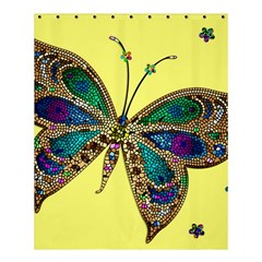 Butterfly Mosaic Yellow Colorful Shower Curtain 60  X 72  (medium)