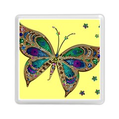 Butterfly Mosaic Yellow Colorful Memory Card Reader (square)