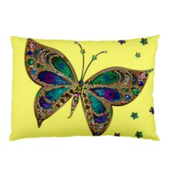 Butterfly Mosaic Yellow Colorful Pillow Case (two Sides)