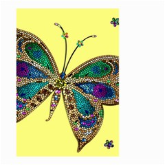 Butterfly Mosaic Yellow Colorful Small Garden Flag (two Sides)