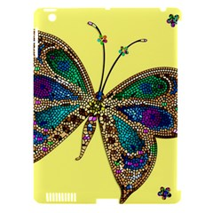 Butterfly Mosaic Yellow Colorful Apple Ipad 3/4 Hardshell Case (compatible With Smart Cover)