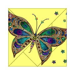 Butterfly Mosaic Yellow Colorful Acrylic Tangram Puzzle (6  X 6 )