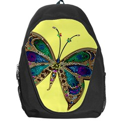 Butterfly Mosaic Yellow Colorful Backpack Bag