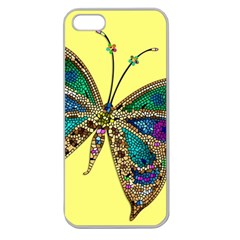 Butterfly Mosaic Yellow Colorful Apple Seamless Iphone 5 Case (clear)